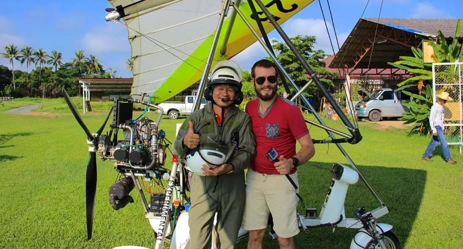 chiang mai flight with microlight introduction