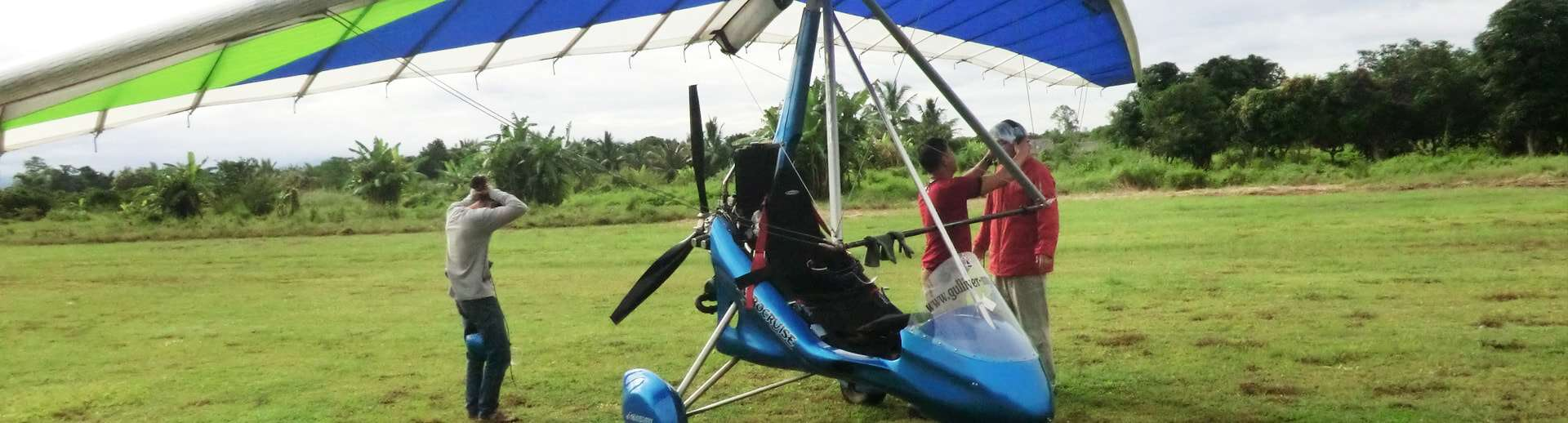 flying a microlight for 15 minutes over chiang mai
