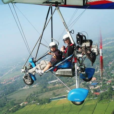 microlight flying chiang mai
